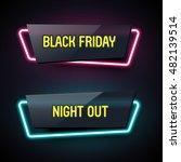 set of geometric neon vector... | Shutterstock .eps vector #482139514