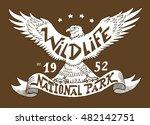 wildlife. national park.... | Shutterstock .eps vector #482142751