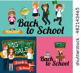 back to school and children... | Shutterstock . vector #482143465