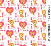 seamless pattern with cute... | Shutterstock .eps vector #482148337