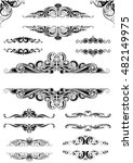 set ornate frames.collection of ... | Shutterstock .eps vector #482149975