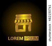 shop 3d golden metallic premium ... | Shutterstock .eps vector #482150761