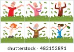 vector set of cards with... | Shutterstock .eps vector #482152891