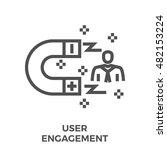 user engagement thin line... | Shutterstock .eps vector #482153224