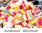 chewing fruit candies on the... | Shutterstock . vector #482154169