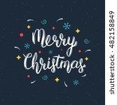 merry christmas handwritten... | Shutterstock .eps vector #482158849