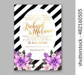romantic pink peony bouquet... | Shutterstock .eps vector #482160505