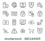 information protection  contour ... | Shutterstock .eps vector #482164405