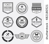 set of vector logotypes... | Shutterstock .eps vector #482180521