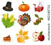 set of colorful cartoon icons... | Shutterstock .eps vector #482180731
