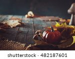 thanksgiving dinner. autumn... | Shutterstock . vector #482187601