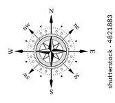 compass panel on white... | Shutterstock . vector #4821883