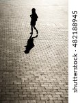 black and white silhouette of a ... | Shutterstock . vector #482188945