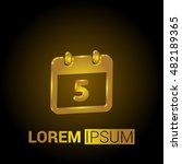 5th calendar 3d golden metallic ...