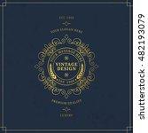 vector calligraphic logo... | Shutterstock .eps vector #482193079