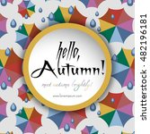 welcoming card with colorful... | Shutterstock .eps vector #482196181