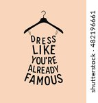 women fashion dress from quote | Shutterstock . vector #482196661