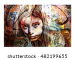 Artistic Portrait Collage Of A...