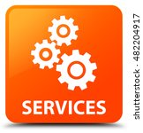 services  gears icon  orange... | Shutterstock . vector #482204917