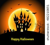 happy halloween  card with  ... | Shutterstock .eps vector #482210851