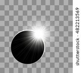 the eclipse of the sun. eclipse ... | Shutterstock .eps vector #482213569