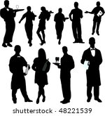 waiters and waitresses... | Shutterstock .eps vector #48221539