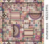 colorful vintage seamless... | Shutterstock .eps vector #482215951