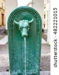Little Fountain With Bull Head...