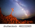 cross on mount strymba wooden... | Shutterstock . vector #482222005