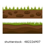 illustration of cross section... | Shutterstock .eps vector #482226907