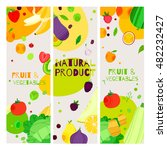 bright cartoon style fruit and... | Shutterstock .eps vector #482232427