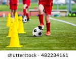 soccer football players during... | Shutterstock . vector #482234161