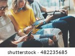 group young hipsters friends...   Shutterstock . vector #482235685
