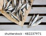 Sun Dried Salty Fish. Stock...