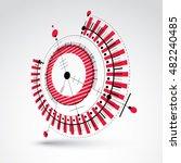 3d engineering technology... | Shutterstock .eps vector #482240485