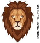 graphic illustration of a lion... | Shutterstock .eps vector #482241535