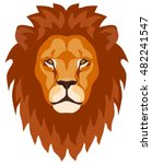 graphic illustration of a lion... | Shutterstock .eps vector #482241547