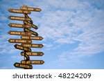 mileage signpost in homer ... | Shutterstock . vector #48224209