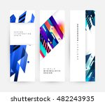 geometric background. template... | Shutterstock .eps vector #482243935