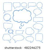 hand drawn set speech bubbles... | Shutterstock .eps vector #482246275
