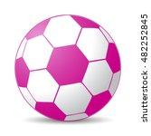pink soccer ball for girls game   Shutterstock .eps vector #482252845