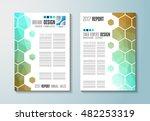 brochure template  flyer design ... | Shutterstock . vector #482253319