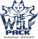 illustration of a pack of wolf... | Shutterstock .eps vector #482261629