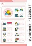 icon set internet  vector | Shutterstock .eps vector #482268157