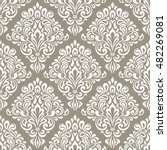 damask floral seamless... | Shutterstock .eps vector #482269081