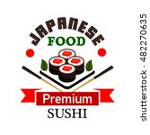 sushi bar and japanese cuisine...   Shutterstock .eps vector #482270635