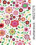 daisy garden | Shutterstock .eps vector #48227275