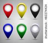colored map pointer set.... | Shutterstock .eps vector #482274424