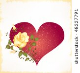 vintage greeting card. raster... | Shutterstock . vector #48227791
