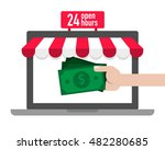 online shopping concept idea... | Shutterstock .eps vector #482280685